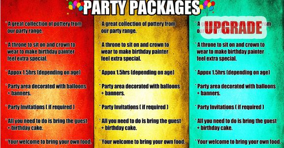 Birthday Party packages start as little as £7.50pp (minimum of 8 children)  Ask for more details.