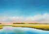 Inlet Marsh Afternoon 16x40 Fine Art at Baxters, New Bern, NC