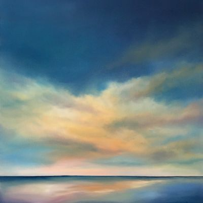 Contemporary coastal paintings by Nancy Hughes Miller are available for sale online at UGallery.com