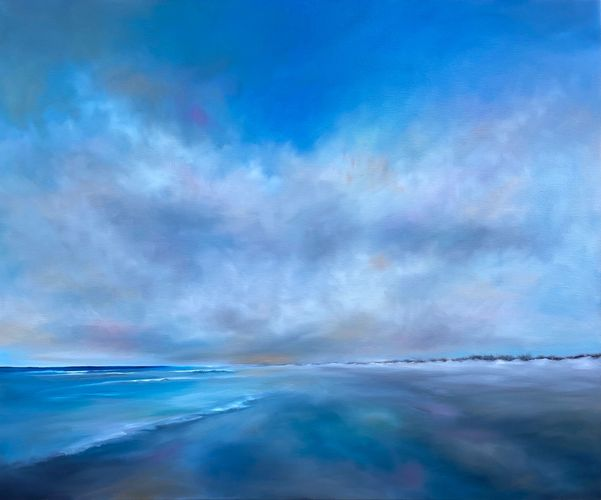 Original ocean paintings in oils, coastal art, contemporary landscapes by Nancy Hughes Miller