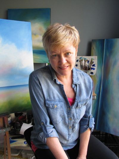 Landscape artist, Nancy Hughes Miller, creates contemporary, colorful, large-scale paintings in her Cary and Sunset Beach, North Carolina studios.