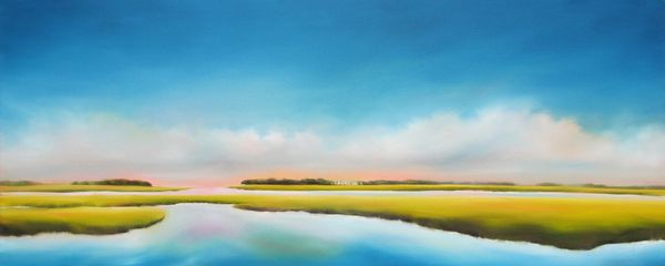 Nancy Hughes Miller paints contemporary landscape paintings of the coast, beach and marsh paintings