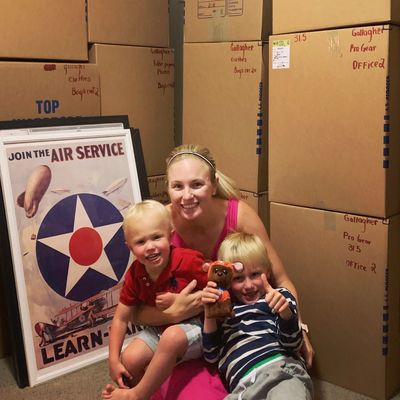 The Founder, C.C. Gallagher, and her two sons.   PCS'ing from Fort Irwin, CA to Fort Bliss, TX.