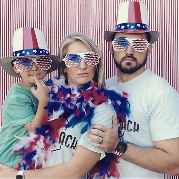 ShutterShack PhotoBooth celebrates the 4th of July.  We are family owned photo booth rental business