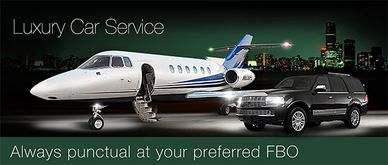 Professional and courteous our Chauffeur will greet you at  the FBO or  terminal to  drive you