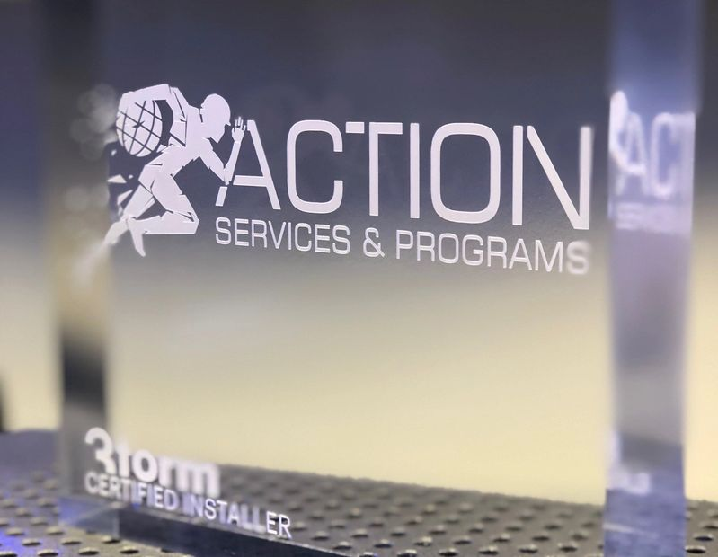 Action Services recently became a certified installer for all 3Form solutions