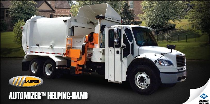 LABRIE  AUTOMIZER  RIGHT HAND DRIVE  GARBAGE TRUCK  TIPPER