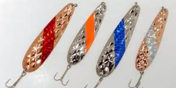 4 DIAMOND CUT TROLLING SPOONS