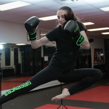 Jessica O'Dowd is a 1st Degree Black Belt, North Carolina State and District Champion. She specializ