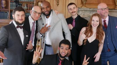 the vibe nyc at Oheka Castle bridal show thevibenyc Oheka wedding ny wedding music by the vibe band