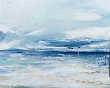 abstract seascape painting on canvas