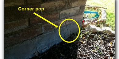 Corner pop on a home - Allegiance Residential inspections of Texas