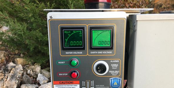 boat dock electrical auto-disconnect & voltage alarm | lake of the ozarks, MO | Safe Dock