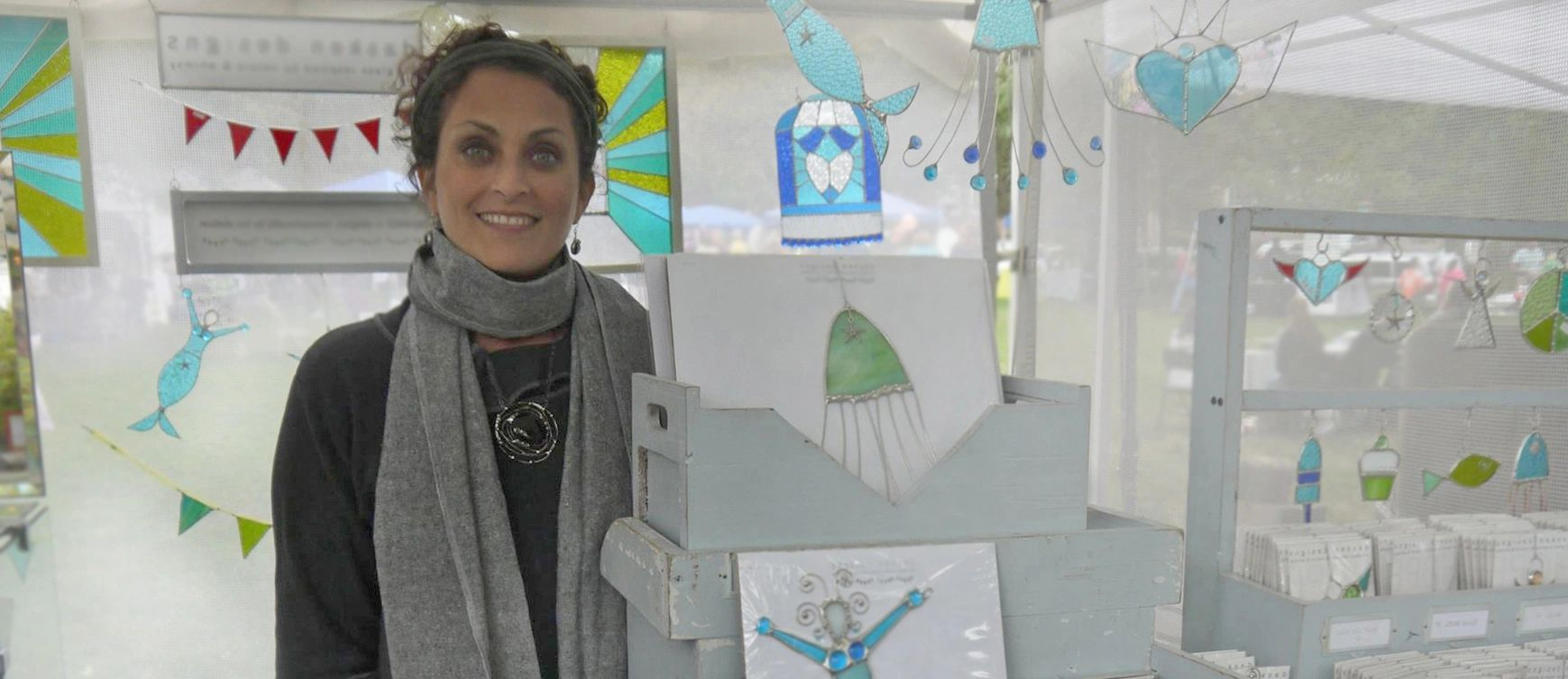Liza Abelson from Dasken Designs at an art festival