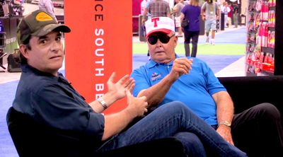 Mike D with fishing legend Bill Dance at ICAST.