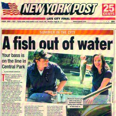 New York Post feature on Lunkerville by Mackenzie Dawson. Published June 1, 2007.