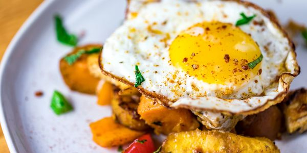 Brunch Savory Eggs with Plantain
