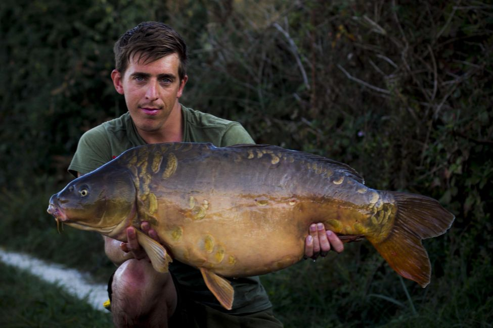 Co-founder George Treadwell with a Gigantica 39lb Mirror carp