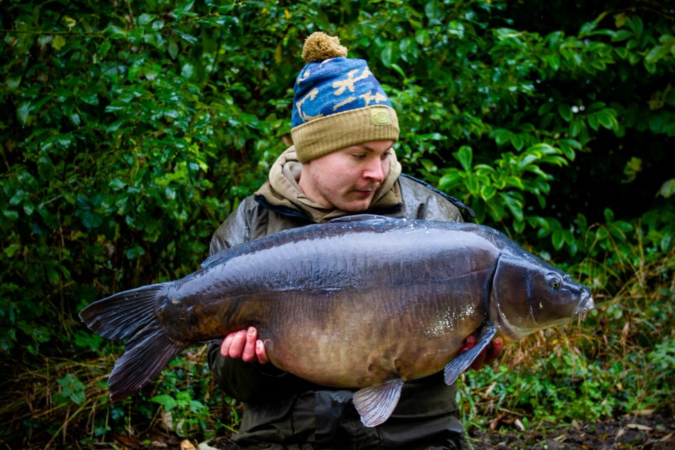 Alex peters with french mirror carp