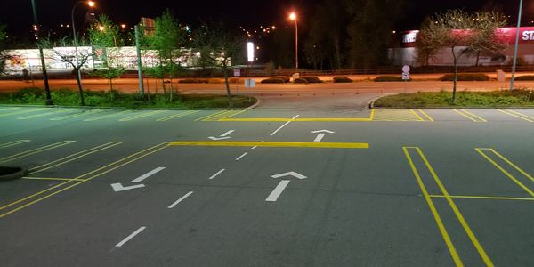 Line painting Burnaby, snow removal, striping , parking lots, Custom Stencilling And Signage Power S