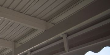 Awning support.  Awning beam.  Romulus awning, Brownstown awning.  Southgate awning, Ecorse awning,