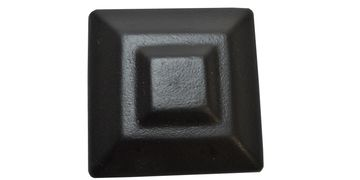 Square rail post cap.
