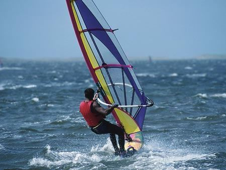 windsurfing and parasailing