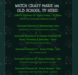 Crazy Mark old school TV schedule