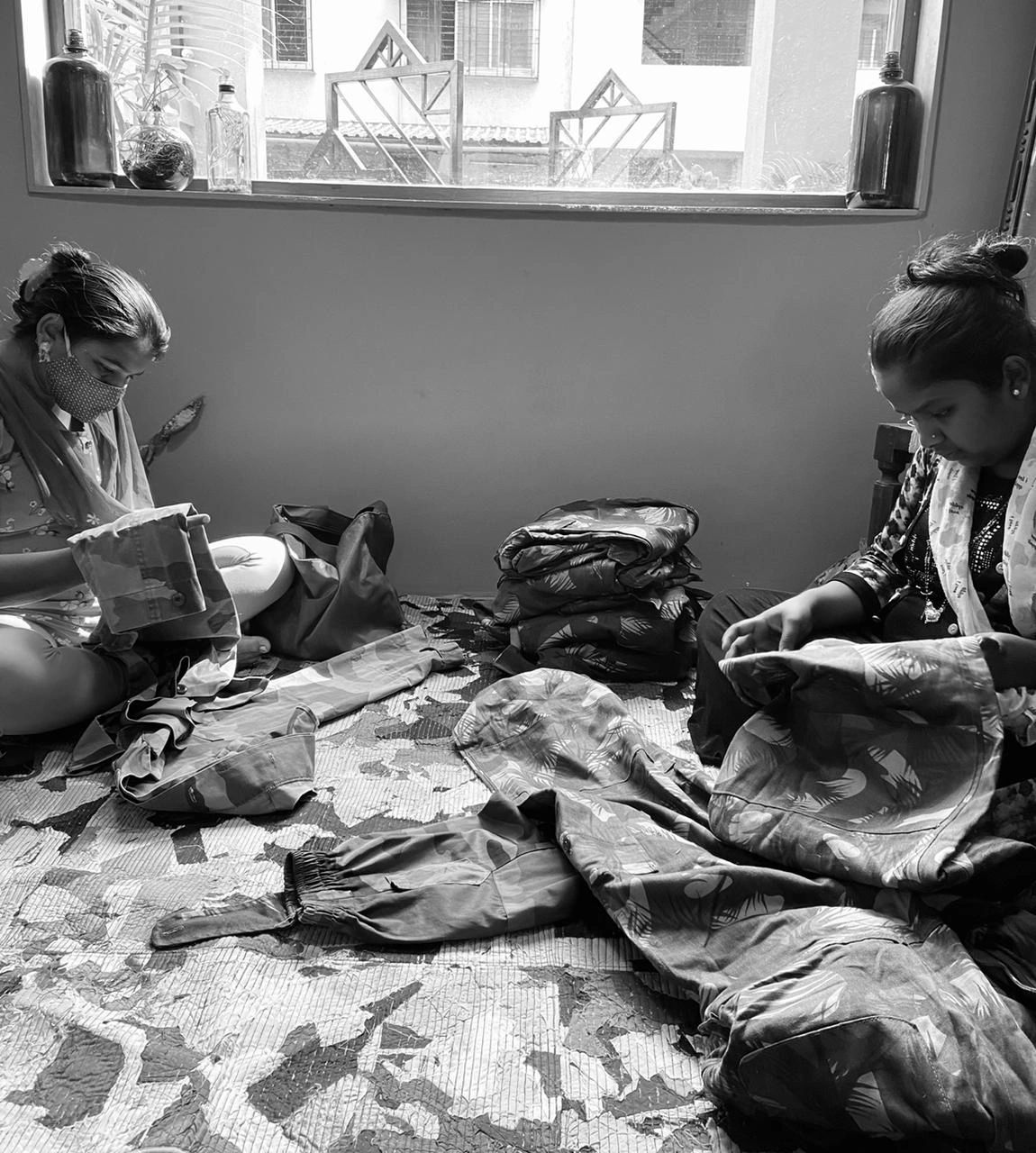 """Women at work, winning at everything they do because there is nothing they can't do. """"The fastest way to change society is to mobilize the women of the world.""""- Charles Malik (Durga Tai (left) and Pooja Didi (right) as seen in the photo)"""