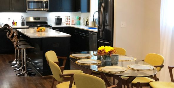 Nashville Sober Living House Kitchen and Dinning Area
