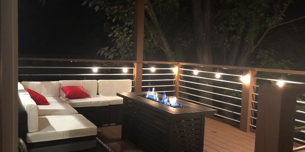 Nashville Halfway House Outdoor Patio with Firepit
