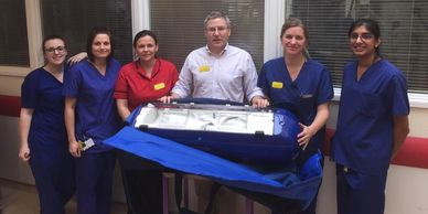 Hospital staff in Bristol NICU receiving Kanmed bed - Southmead