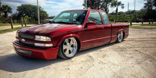 Eric M Tapia Bagged S10 with Apex Wheels, Billet Wheels, Billets, Custom Wheels, Polished