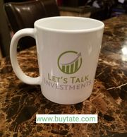11 ounces Let's Talk Investments coffee mug. Let's learn together how to invest for a better future