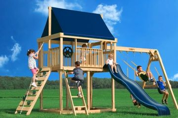 forts playgrounds backyard swingset fort slide