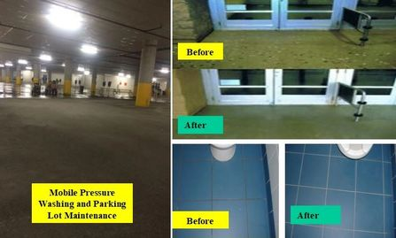 parking lot maintenance mobile pressure washing commercial carpet cleaning window cleaning tile