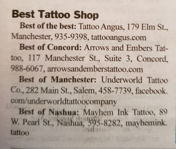 best tattoo shop in  nh