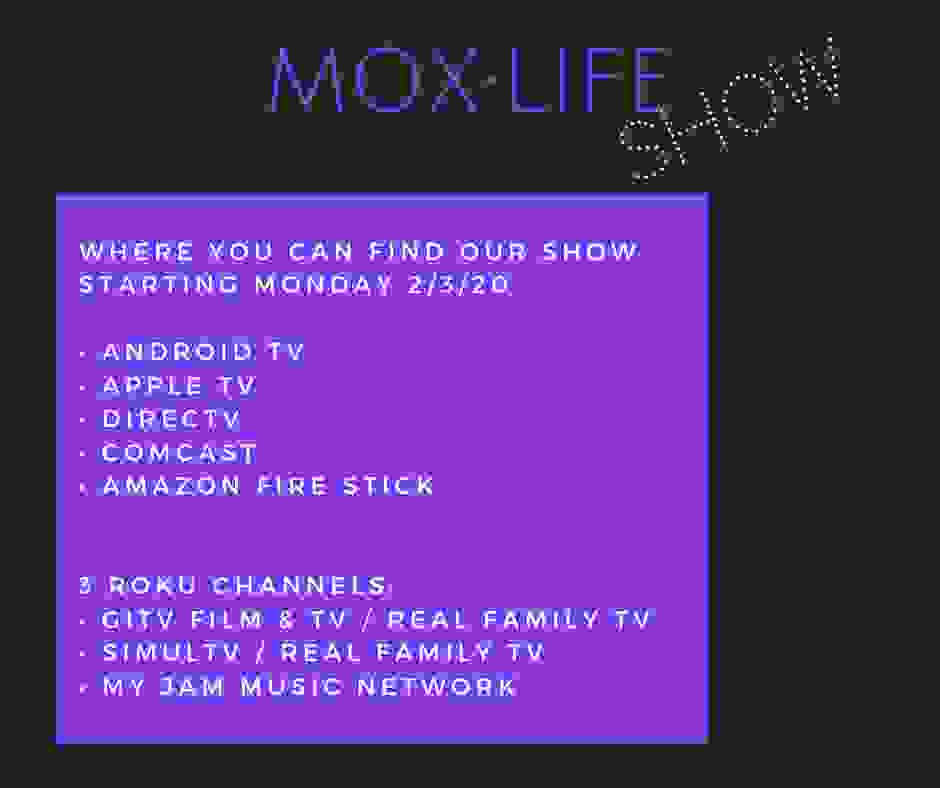 Where to watch The MOX Life Show with Midori Verity, Mindset Coach