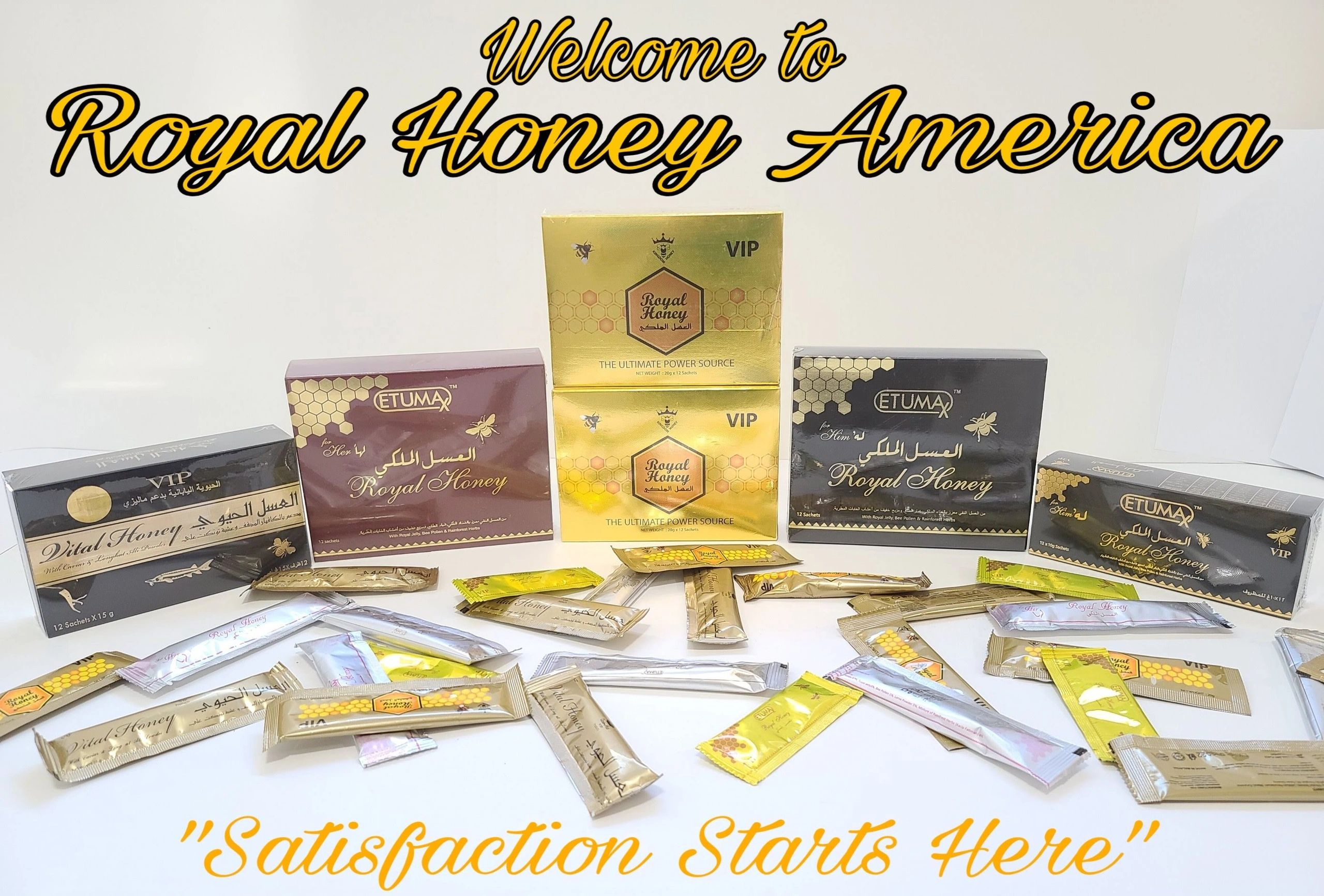 Royal Honey America - Royal Honey VIP Etumax Dose Vital Royal Honey