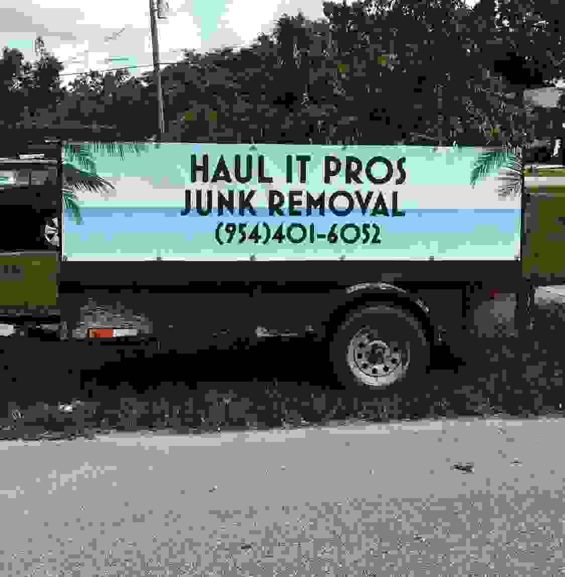 Trailer for residential junk or bulk removal. All types of junk get hauled for low cost and gets dis