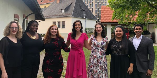 Allyson Bennett with colleagues after a concert in Graz, Austria