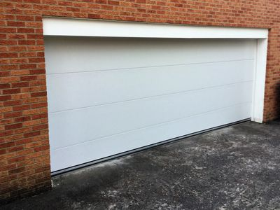 Flush Panel 16x7 Garage Door