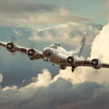 Avation Art - Boeing B-17 Flying Fortress Sentimental Journey