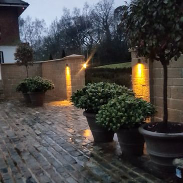 Sussex sandstone walling