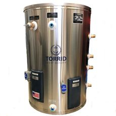 Explorer Series Marine Water Heater with Dual Heat Exchangers and Dual Heating Elements.