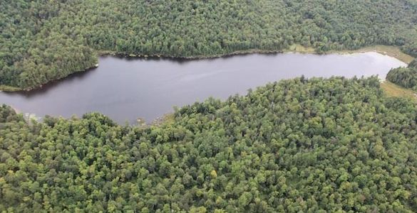 Waterfront land for sale in the Laurentians, 3 lakes only 45 minutes to Mont-Tremblant.
