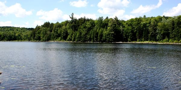 Waterfront property for sale in the Laurentians, private lake with 156 acres.