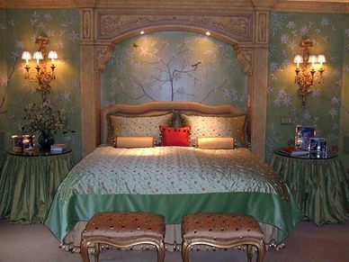 Hand painted master bedroom.