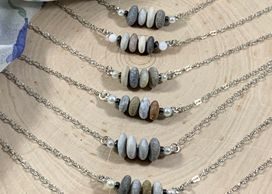 beach and river stones for necklaces and earrings