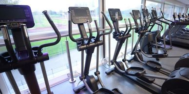 Fitness suite at the Oval Leisure Centre, Bebington, Wirral